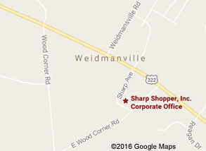 Sharp Shopper Grocery Outlet Corporate Office Map